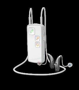 Oticon Streamer in weiß oder schwarz erhältlich.  Quelle: Oticon GmbH