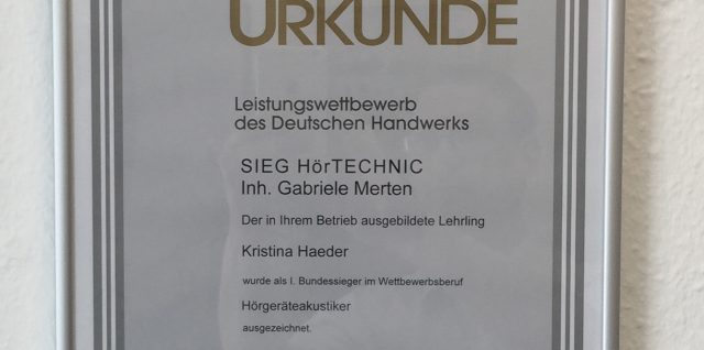 Hörgeräteakustiker Bundessieger