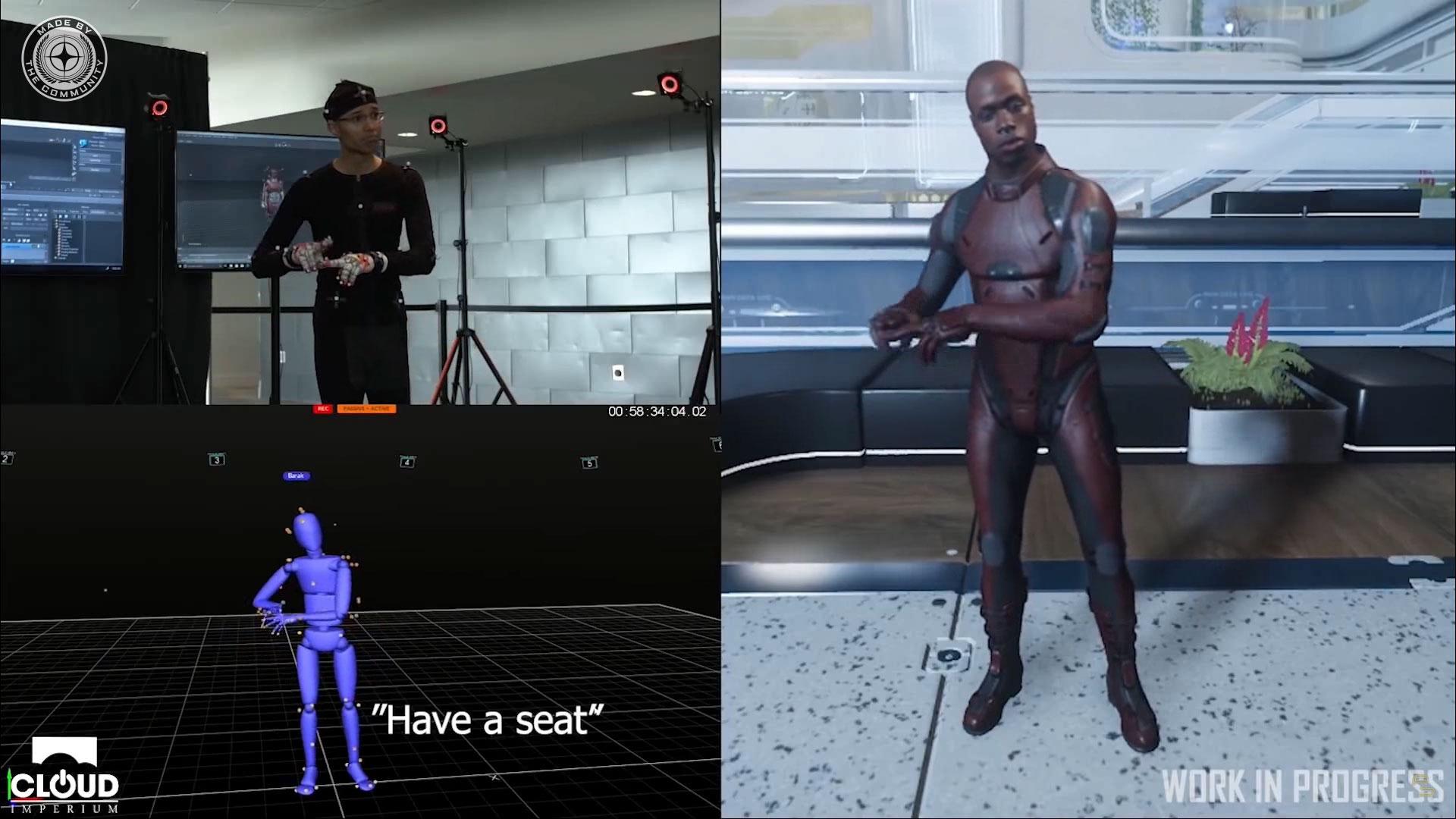 In Star Citizen einem Crowdfunding Spiel werden Gebärden zur interaktion zwischen Spieler eingesetzt.
